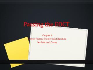 Passing the EOCT