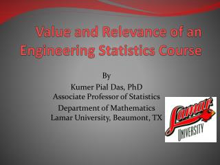 Value and Relevance of an Engineering Statistics Course