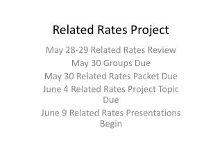 Related Rates Project