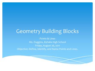 Geometry Building Blocks