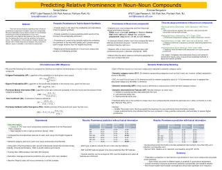 Results: Prominence prediction without lexical information