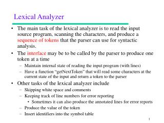 Lexical Analyzer