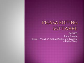 Picasa Editing Software