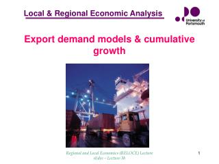 Export demand models & cumulative growth