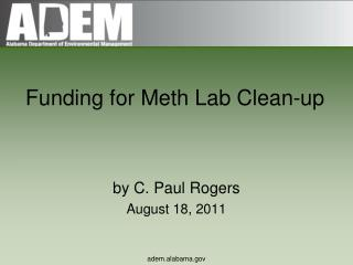 Funding for Meth Lab Clean-up