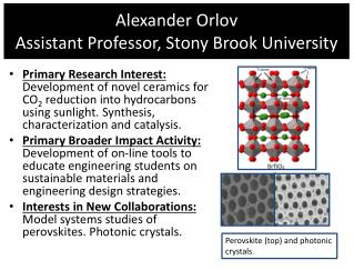 Alexander  Orlov Assistant Professor, Stony Brook University