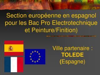 Section europ�enne en espagnol pour les Bac Pro Electrotechnique et Peinture/Finition)