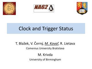 Clock and Trigger Status