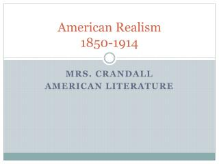 American Realism 1850-1914