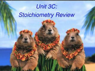 Unit 3C:   Stoichiometry Review