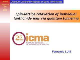 Spin-lattice relaxation of individual lanthanide ions via quantum tunneling