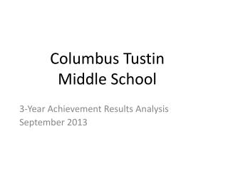 Columbus Tustin  Middle School