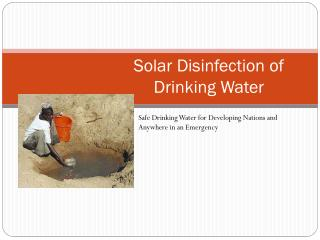 Solar Disinfection of  Drinking Water