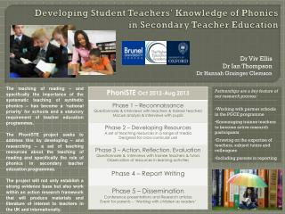 Developing Student Teachers' Knowledge of Phonics in Secondary Teacher Education