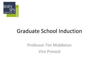 Graduate School Induction