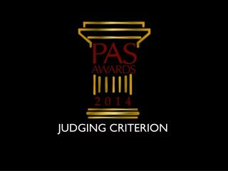 JUDGING CRITERION