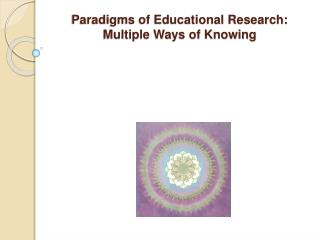Paradigms of Educational Research:  Multiple Ways of Knowing