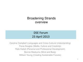Broadening Strands  overview