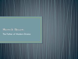 Henrik  Ibsen: