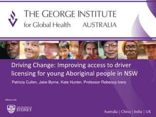 Driving Change:  Improving  access to driver licensing for young Aboriginal people in NSW