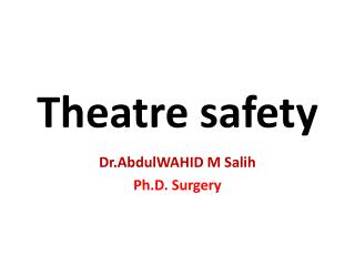 Theatre safety