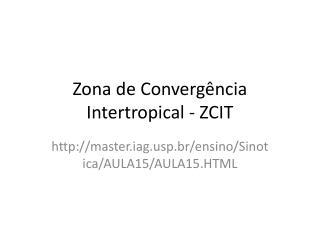 Zona de Convergência Intertropical - ZCIT