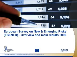 European Survey on New & Emerging Risks (ESENER) - Overview and main results 2009