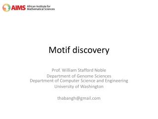 Motif  discovery