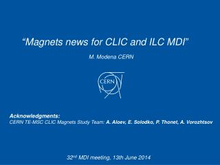 M. Modena  CERN