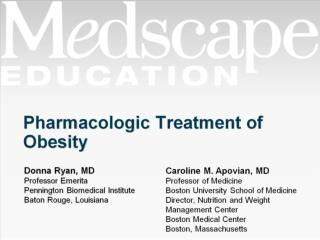 Pharmacologic Treatment of Obesity