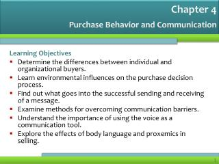 Purchase Behavior and Communication