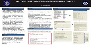 FOLLOW-UP URINE DRUG SCREEN/ ABERRANT BEHAVIOR TEMPLATE Do Tran,  Pharm.D .