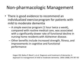 Non-pharmacologic Management