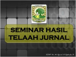SEMINAR HASIL TELAAH JURNAL