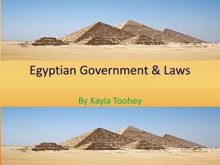 Egyptian Government & Laws