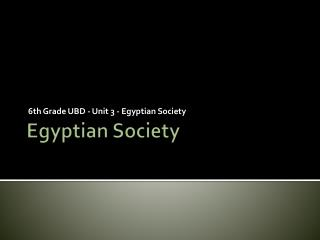 Egyptian Society