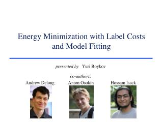 Energy Minimization with Label Costs and Model Fitting