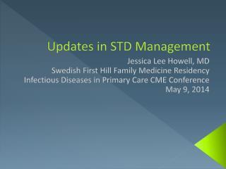 Updates in STD Management