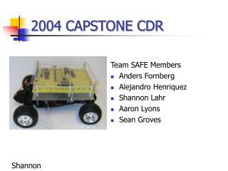 2004 CAPSTONE CDR
