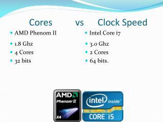 Cores           vs       Clock Speed