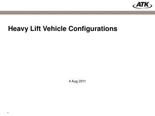 Heavy Lift Vehicle Configurations