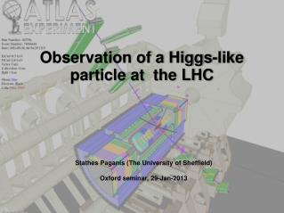 Observation of a Higgs-like  particle at  the LHC