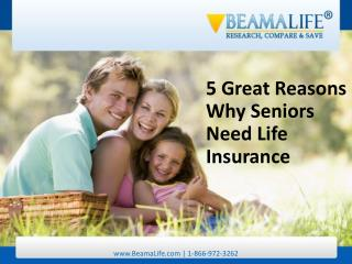 5 Great Reasons Why Seniors Need Life Insurance