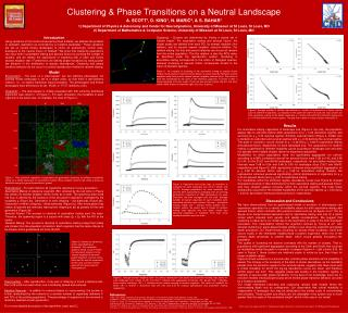 Clustering & Phase Transitions on a Neutral Landscape