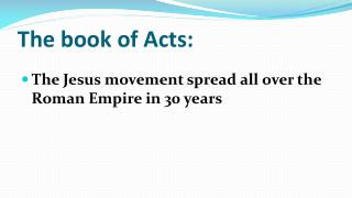The book of Acts: