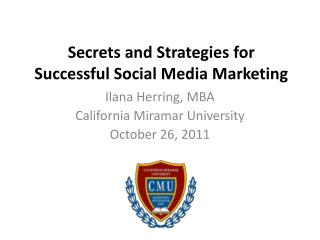 Secrets and Strategies for Successful Social Media Marketing