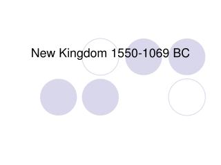 New Kingdom 1550-1069 BC