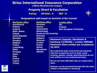 Sirius International Insurance Corporation a White Mountains Re company