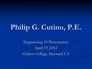 Philip G. Cutino, P.E.