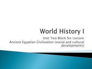 World History I